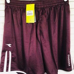 Diadora Burgundy Athletic Shorts Size M